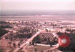 Image of aerial view of Vietnamese refugee camp at Eglin Air Force Base Florida United States USA, 1975, second 24 stock footage video 65675050956