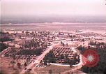 Image of aerial view of Vietnamese refugee camp at Eglin Air Force Base Florida United States USA, 1975, second 25 stock footage video 65675050956