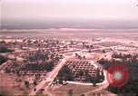 Image of aerial view of Vietnamese refugee camp at Eglin Air Force Base Florida United States USA, 1975, second 27 stock footage video 65675050956