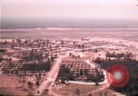 Image of aerial view of Vietnamese refugee camp at Eglin Air Force Base Florida United States USA, 1975, second 30 stock footage video 65675050956