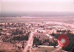 Image of aerial view of Vietnamese refugee camp at Eglin Air Force Base Florida United States USA, 1975, second 32 stock footage video 65675050956