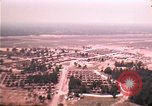 Image of aerial view of Vietnamese refugee camp at Eglin Air Force Base Florida United States USA, 1975, second 33 stock footage video 65675050956