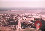 Image of aerial view of Vietnamese refugee camp at Eglin Air Force Base Florida United States USA, 1975, second 34 stock footage video 65675050956