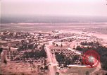 Image of aerial view of Vietnamese refugee camp at Eglin Air Force Base Florida United States USA, 1975, second 38 stock footage video 65675050956