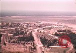 Image of aerial view of Vietnamese refugee camp at Eglin Air Force Base Florida United States USA, 1975, second 39 stock footage video 65675050956