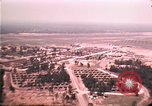 Image of aerial view of Vietnamese refugee camp at Eglin Air Force Base Florida United States USA, 1975, second 40 stock footage video 65675050956