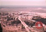Image of aerial view of Vietnamese refugee camp at Eglin Air Force Base Florida United States USA, 1975, second 43 stock footage video 65675050956