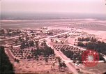 Image of aerial view of Vietnamese refugee camp at Eglin Air Force Base Florida United States USA, 1975, second 45 stock footage video 65675050956