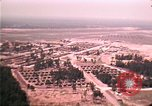Image of aerial view of Vietnamese refugee camp at Eglin Air Force Base Florida United States USA, 1975, second 46 stock footage video 65675050956