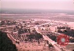 Image of aerial view of Vietnamese refugee camp at Eglin Air Force Base Florida United States USA, 1975, second 47 stock footage video 65675050956