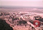 Image of aerial view of Vietnamese refugee camp at Eglin Air Force Base Florida United States USA, 1975, second 49 stock footage video 65675050956