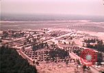 Image of aerial view of Vietnamese refugee camp at Eglin Air Force Base Florida United States USA, 1975, second 50 stock footage video 65675050956