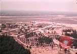 Image of aerial view of Vietnamese refugee camp at Eglin Air Force Base Florida United States USA, 1975, second 51 stock footage video 65675050956