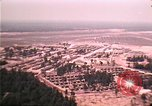Image of aerial view of Vietnamese refugee camp at Eglin Air Force Base Florida United States USA, 1975, second 53 stock footage video 65675050956