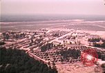 Image of aerial view of Vietnamese refugee camp at Eglin Air Force Base Florida United States USA, 1975, second 54 stock footage video 65675050956