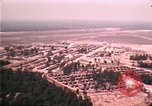 Image of aerial view of Vietnamese refugee camp at Eglin Air Force Base Florida United States USA, 1975, second 55 stock footage video 65675050956