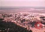 Image of aerial view of Vietnamese refugee camp at Eglin Air Force Base Florida United States USA, 1975, second 57 stock footage video 65675050956
