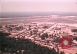 Image of aerial view of Vietnamese refugee camp at Eglin Air Force Base Florida United States USA, 1975, second 59 stock footage video 65675050956