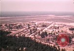 Image of aerial view of Vietnamese refugee camp at Eglin Air Force Base Florida United States USA, 1975, second 60 stock footage video 65675050956