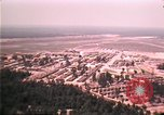 Image of aerial view of Vietnamese refugee camp at Eglin Air Force Base Florida United States USA, 1975, second 62 stock footage video 65675050956