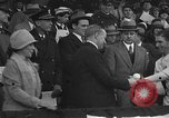 Image of President and Mrs. Calvin Coolidge at baseball game Washington DC USA, 1927, second 15 stock footage video 65675051047