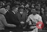 Image of President and Mrs. Calvin Coolidge at baseball game Washington DC USA, 1927, second 17 stock footage video 65675051047