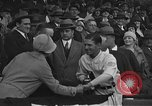 Image of President and Mrs. Calvin Coolidge at baseball game Washington DC USA, 1927, second 18 stock footage video 65675051047