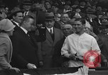 Image of President and Mrs. Calvin Coolidge at baseball game Washington DC USA, 1927, second 20 stock footage video 65675051047