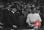Image of President and Mrs. Calvin Coolidge at baseball game Washington DC USA, 1927, second 21 stock footage video 65675051047
