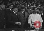 Image of President and Mrs. Calvin Coolidge at baseball game Washington DC USA, 1927, second 22 stock footage video 65675051047