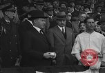 Image of President and Mrs. Calvin Coolidge at baseball game Washington DC USA, 1927, second 23 stock footage video 65675051047