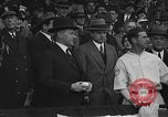 Image of President and Mrs. Calvin Coolidge at baseball game Washington DC USA, 1927, second 24 stock footage video 65675051047
