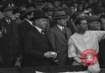Image of President and Mrs. Calvin Coolidge at baseball game Washington DC USA, 1927, second 25 stock footage video 65675051047