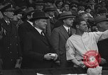 Image of President and Mrs. Calvin Coolidge at baseball game Washington DC USA, 1927, second 26 stock footage video 65675051047