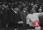 Image of President and Mrs. Calvin Coolidge at baseball game Washington DC USA, 1927, second 27 stock footage video 65675051047