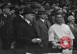 Image of President and Mrs. Calvin Coolidge at baseball game Washington DC USA, 1927, second 28 stock footage video 65675051047