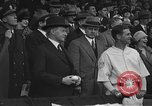 Image of President and Mrs. Calvin Coolidge at baseball game Washington DC USA, 1927, second 29 stock footage video 65675051047