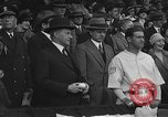 Image of President and Mrs. Calvin Coolidge at baseball game Washington DC USA, 1927, second 30 stock footage video 65675051047
