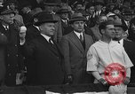 Image of President and Mrs. Calvin Coolidge at baseball game Washington DC USA, 1927, second 33 stock footage video 65675051047