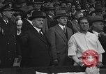 Image of President and Mrs. Calvin Coolidge at baseball game Washington DC USA, 1927, second 36 stock footage video 65675051047
