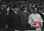 Image of President and Mrs. Calvin Coolidge at baseball game Washington DC USA, 1927, second 37 stock footage video 65675051047