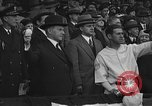 Image of President and Mrs. Calvin Coolidge at baseball game Washington DC USA, 1927, second 38 stock footage video 65675051047