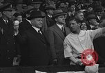 Image of President and Mrs. Calvin Coolidge at baseball game Washington DC USA, 1927, second 39 stock footage video 65675051047
