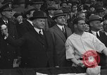 Image of President and Mrs. Calvin Coolidge at baseball game Washington DC USA, 1927, second 40 stock footage video 65675051047