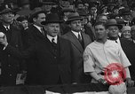 Image of President and Mrs. Calvin Coolidge at baseball game Washington DC USA, 1927, second 41 stock footage video 65675051047