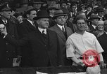 Image of President and Mrs. Calvin Coolidge at baseball game Washington DC USA, 1927, second 42 stock footage video 65675051047