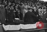 Image of President and Mrs. Calvin Coolidge at baseball game Washington DC USA, 1927, second 46 stock footage video 65675051047