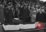 Image of President and Mrs. Calvin Coolidge at baseball game Washington DC USA, 1927, second 49 stock footage video 65675051047