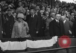 Image of President and Mrs. Calvin Coolidge at baseball game Washington DC USA, 1927, second 52 stock footage video 65675051047