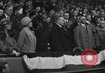 Image of President and Mrs. Calvin Coolidge at baseball game Washington DC USA, 1927, second 57 stock footage video 65675051047